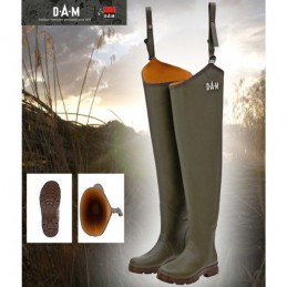 Škornji do pasu DAM Flex Rubber (gumi, neopren podloga) št. 44