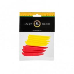 """Peresa 3"""", 5x rumena, 5x rdeča"""
