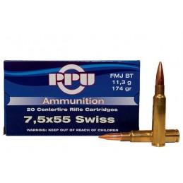 Naboji 7,5x55 Swiss FMJ BT...